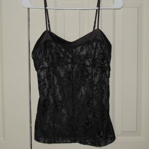 Express Sexy Lace Camisole in Black